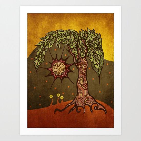 "Mystic tree Dia by Pom Graphic Design & Viviana Gonzalez"" Art Print"