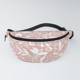 Soft Blush Floral Pattern Fanny Pack