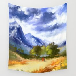 Mountain road Wall Tapestry