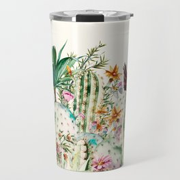 Blooming in the cactus Travel Mug