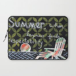 Summer when laziness finds respectability Laptop Sleeve