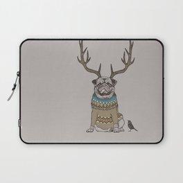 Deer Pug Laptop Sleeve