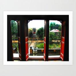 Buddhist Temple, Hue, Viet Nam Art Print