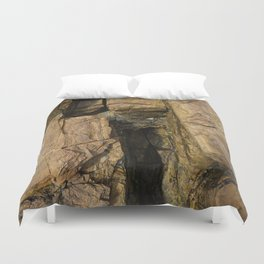 Door into the Cliff Face Duvet Cover