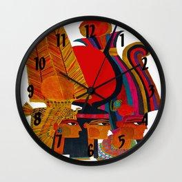 Vintage Egypt Headdress Travel Wall Clock