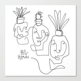 """Pot Heads"" Canvas Print"