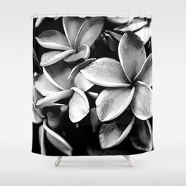 Tropicals B&W Shower Curtain