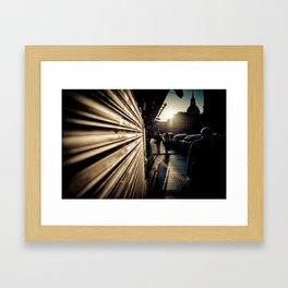 Agosto en Madrid Framed Art Print