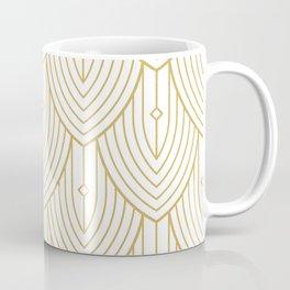 Gold and white art-deco pattern Coffee Mug