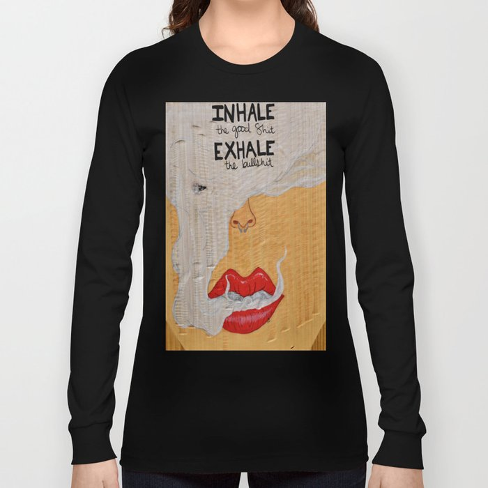 Puff, Smoking Lady Series Long Sleeve T-shirt