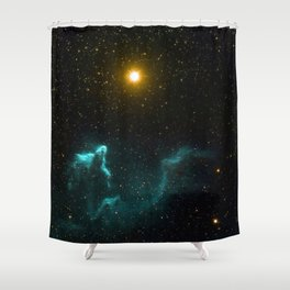 Gamma Cassiopeia Nebula Shower Curtain