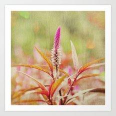 Sunday at the Arboretum: Purple Art Print