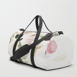 Romantic Loose Rose Bouquet Duffle Bag