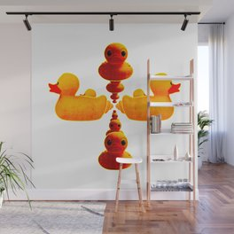 Ducky Ducks From Space Wall Mural