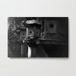 Japanese Stone Lanterns Metal Print