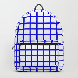 Grid (Classic Blue & White Pattern) Backpack