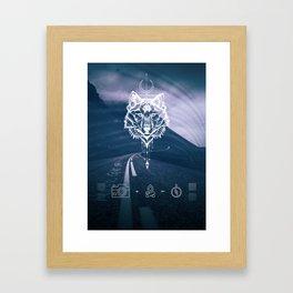 Never give up! Framed Art Print