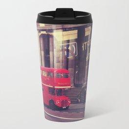 London Bus Metal Travel Mug