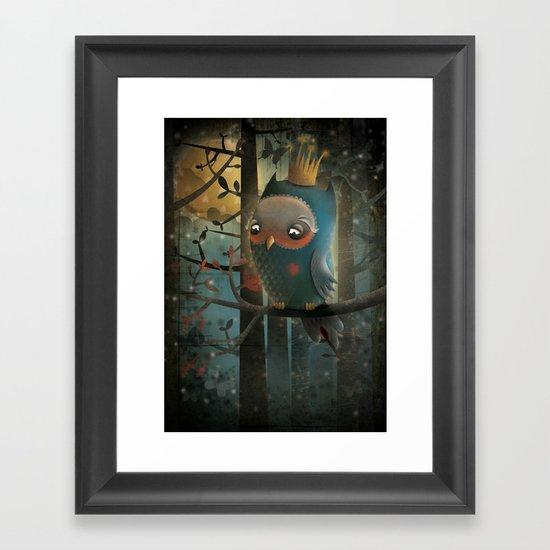 King Owl Framed Art Print