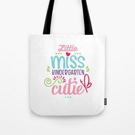 Little Miss Kindergarten Cutie Tote Bag
