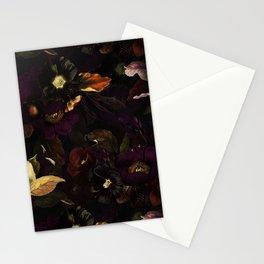 The Darkest Dutch Vintage Flowers Garden  Stationery Cards