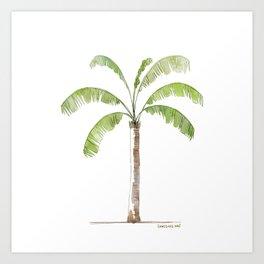 Watercolor Palm tree Art Print