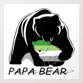 Papa Bear Aromantic Art Print