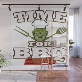 Funny Grill Party Grilling Master Ork Summer Gift Wall Mural