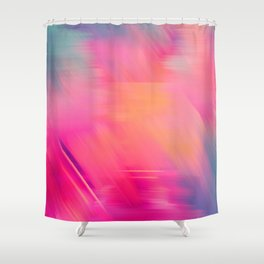 Modern abstract fuchsia violet coral brushstrokes Shower Curtain