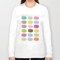 macaroons Long Sleeve T-shirts featuring Which Maccaroon Are you? by Underwatercity