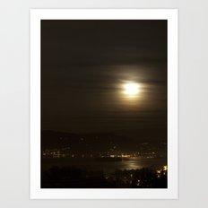 Glowing Moon Art Print