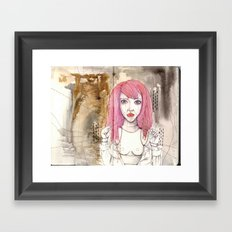Poppet with strings Framed Art Print