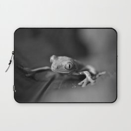 Cute Little Frog (Black and White) Laptop Sleeve