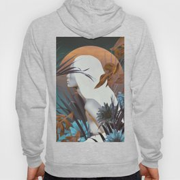 Golden Tropical Garden Hoody