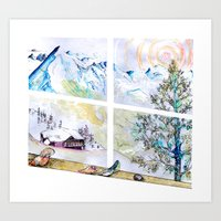 Mountain Views Art Print