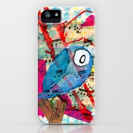 Bluebelle  - Quirky Bird Series iPhone Case