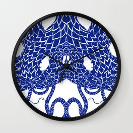 Blue Double Wall Clock