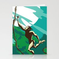 ape Stationery Cards featuring Ape Man by Tony Vazquez