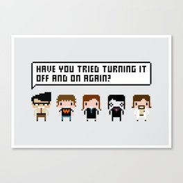 The IT Crowd Characters Canvas Print