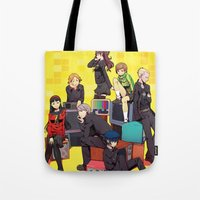 persona 4 Tote Bags featuring PERSONA 4 by EB & JJ