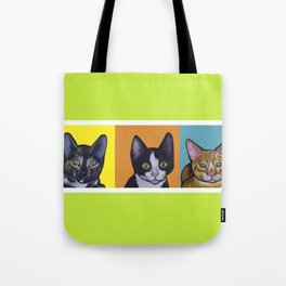Three kittens Tote Bag
