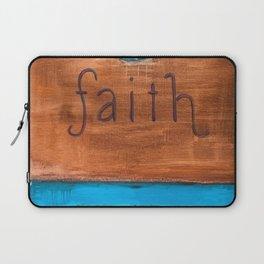 faith blue ornate cross Laptop Sleeve