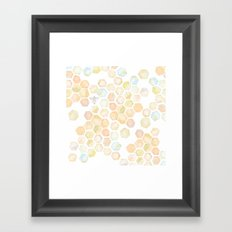 Bee and honeycomb watercolor Framed Art Print