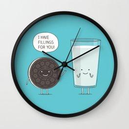 Cookie love milk Wall Clock
