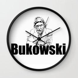 Charles Bukowski Drawing Wall Clock