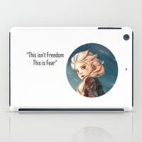 the winter soldier iPad Cases featuring Elsa as a Winter soldier by Thea Yau