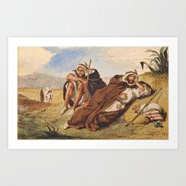 "Eugène Delacroix ""Arabes d'Oran"" Art Print"