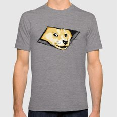 Ceiling Doge SMALL Tri-Grey Mens Fitted Tee