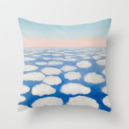 Georgia O'Keeffe Above the Clouds Throw Pillow