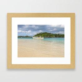 Boat on Kabira Bay Framed Art Print
